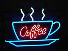 "New Hot Coffee Cafe Bar Cub Party Light Lamp Decor Neon Sign 17""x14"""