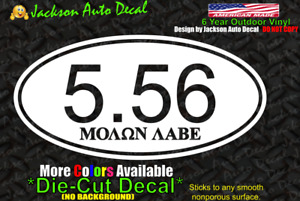 Molon Labe Gun Rights 5.56 Ammo USA Trump Car Window Vinyl Decal Bumper Sticker