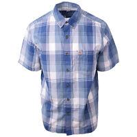 Carhartt Men's Blue White Plaid S/S Woven Shirt (S05)