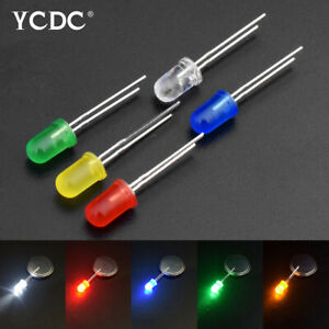 3mm 5mm Red Green Yellow White Color Assorted LED Light Emitting Diodes X100 60