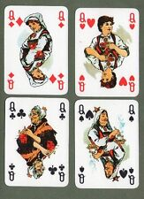 RARE old Playing Cards ITALY Modiano pretty art non standard courts amazing #066