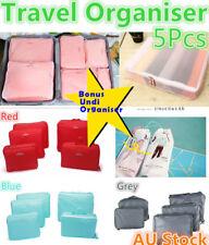 5pcs Travel Organiser Bag Clothes Underwear Pouch Suitcase Luggage Storage Case