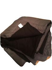 King Reversible utopia comforter In Black/grey *Plus Flannel Fitted Sheet*