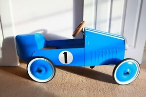 classic pedal operated toy car blue Baghera collector kids