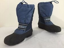 SOREL Winter Snow Boots w/Felt Liners Blue Size 4