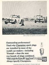 1966 Triumph TR4A TR-4A Sebring Champion Advertisement Print Art Car Ad J719