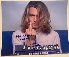 JOHNNY DEPP signed mugshot photo from BLOW autograph with COA sexy