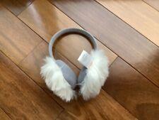 janie and jack Faux Fur Earmuffs White/grey