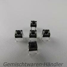 5x Mikrotaster Mikroschalter AUS-(EIN) 4,5x4,5x3,8 mm 0,05A-12V Drucktaster mini