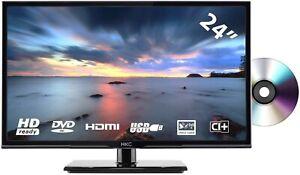 """TV HKC 24C2NBD 24"""" (60cm) LED téléviseur Lecteur DVD HD 720p Ready Port USB NEUF"""