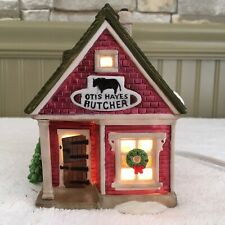 Vtg Dept 56 New England Village Otis Hayes Butcher Shop Lighted #5939-0. Mint.