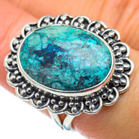 Tibetan Turquoise 925 Sterling Silver Ring Size 7.5 Ana Co Jewelry R49566F