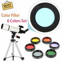 "2/"" 4 PC Quality Telescope Filter set glass nebula moon planet filters soft case"