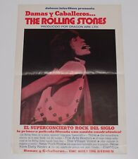 Original Rolling Stones Poster 1974 Ladies and Gentlemen Movie Sheet Spanish 70s