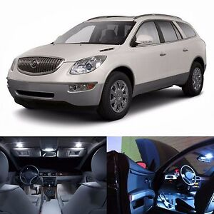 LED Lights Interior Package Kit For Buick Enclave 2008-2012 (20 Bulbs White)