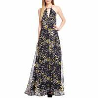 Ossie Clark Women's Vintage Inspired Black Yellow Walsingham Maxi Dress RRP £129