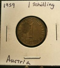 FREE SHIPPING Austrian One 1 Shilling Coin, 1959  Österreich Austria