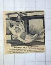 1956 Andrew Bengtsson Living On Motor Yacht Shoreham In Cradle Hammock