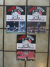 3 x Manchester United Home Football Programmes - Div 1 - 1990/1991 - Lot 10