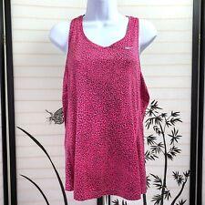 Nike Dri Fit Womens Racerback Top Sz L Activewear Tank Pink Speckled