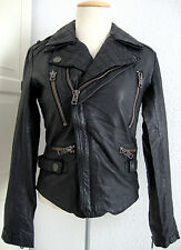 SUPERDRY BIKER JACKET LEATHER Damen Lederjacke Japan Spirit Gr.L NEU mit ETIKETT
