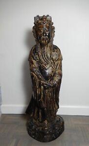 "Vintage Austin Prod 1981 Chinese Luxing Wiseman Statue 32"""