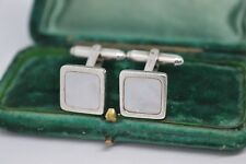 Vintage Sterling Silver cufflinks with Mother of Pearl by Links of London #B595