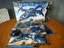 Mega Bloks Halo Blue Series Falcon 97204 set, New Factory sealed bags. Box open