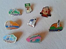 Lot 8 Pin's publicitaires Total