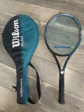 "Wilson Tennis Racket 110"" Pro Staff 6.0 Dual Taper Beam 4-1/4 Grip with Case"