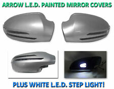 USA 1998-2004 R170 SLK Arrow Led Side Painted Silver Mirror Cover+LED Step Light