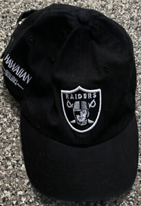 Vintage New Era NFL Oakland Raiders HAWAIIAN AIRLINES Promo Hat One Size Fits