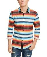 American Rag Men's Frequency Striped Button Down Shirt Vintage White Size XS