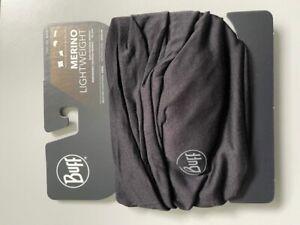 Buff Lightweight Merino Wool Schlauchtuch - schwarz