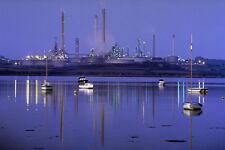 799003 Milford Haven Oil Refinery Pembrokeshire UK A4 Photo Print
