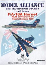 Modello di decalcomanie Alliance 1/48 F/A-18A HORNET 2005 regime speciale # 489015