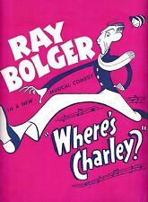 "Ray Bolger ""WHERE'S CHARLEY?"" Al Hirschfeld / Frank Loesser 1948 Tryout Program"
