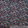 BonEful Fabric FQ Cotton Quilt Black Pink Purple White B&W Flower Garden Cottage