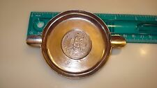 1943 UN PESO COIN BOTTOM MEXICAN  ASHTRAY 47.37 GRAMS  MARKED IN STERLING SILVER
