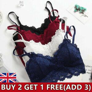 Womens Lace Floral Bralette Bralet Bra Vest Bustier Padded Crop Cami Tank Tops!