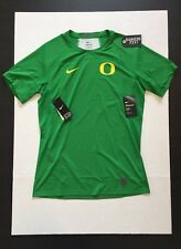 Nike Pro Oregon Ducks Hypercool S/S Fitted Green Top Shirt Mens Size XL