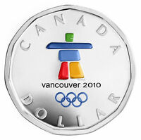 2010 Canada Silver Dollar - Sterling Silver Lucky Loonie - Coin & Capsule Only