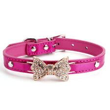 Colliers roses en faux cuir pour chien