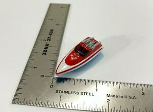 Micro Machines 1987 Galoob Speed Boat Red, White & Blue Nancy Decal