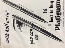 f1c ephemera 1950s advert platignum best to buy pen