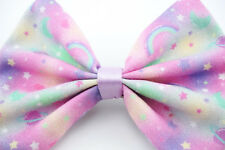 Kawaii Pastel Galaxy Nebular Handmade Medium Hair Bow Hair Clip Fairy Kei