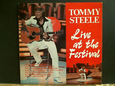 TOMMY STEELE  Live At The Festival  LP  UK  1975   Signed by Tommy Steele!