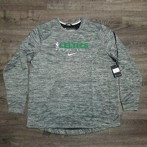 NIKE NBA Boston Celtics Warm Up Shooting Sweatshirt Mens 2xl Tall Pullover Grey
