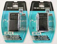 Sony ICF-S10MK2 Pocket AM/FM Radio - Black