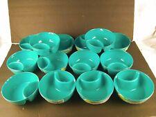 14 Sets of 2 Turquoise Chip & Dip Bowls Wholesale Closeout Lot Retail $140
